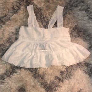 Forever 21 White Woven Top